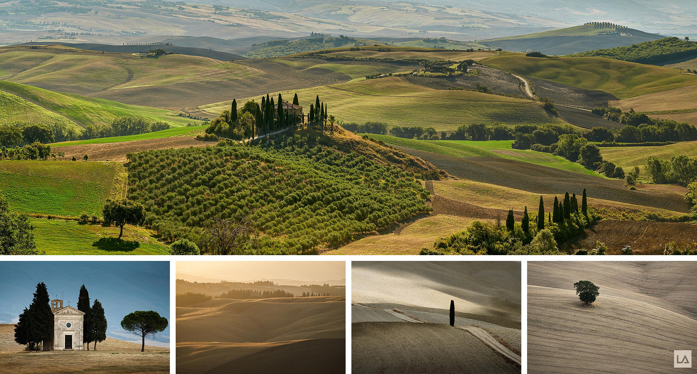 Landscapes of the Val Da'Orcia in Tuscany