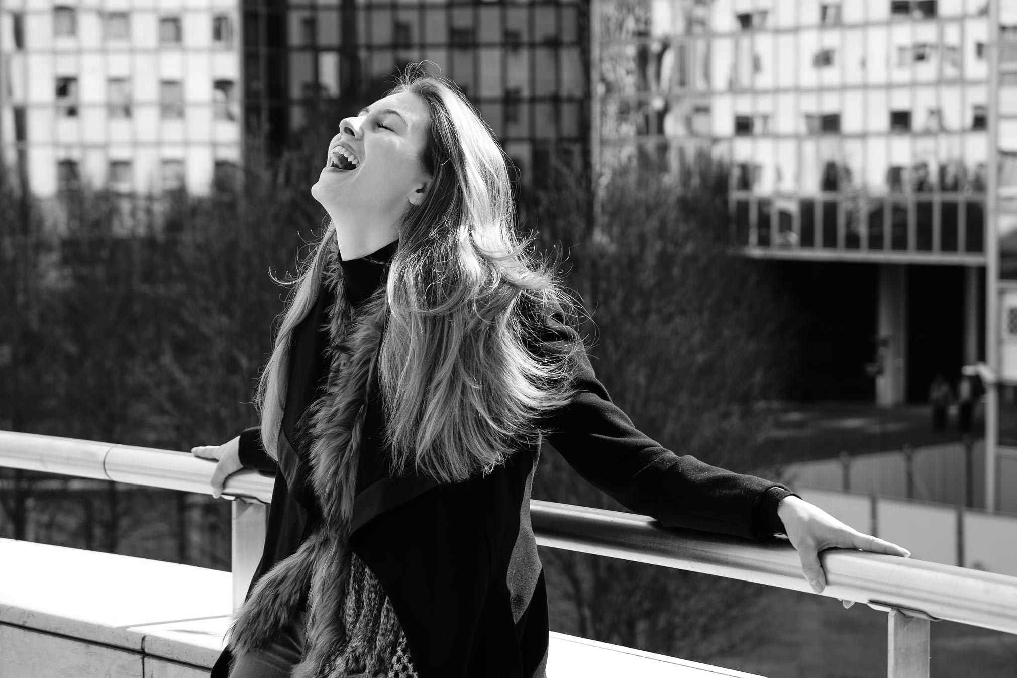 Alicia Endemann in Paris reacting to me turning her down in marriage.