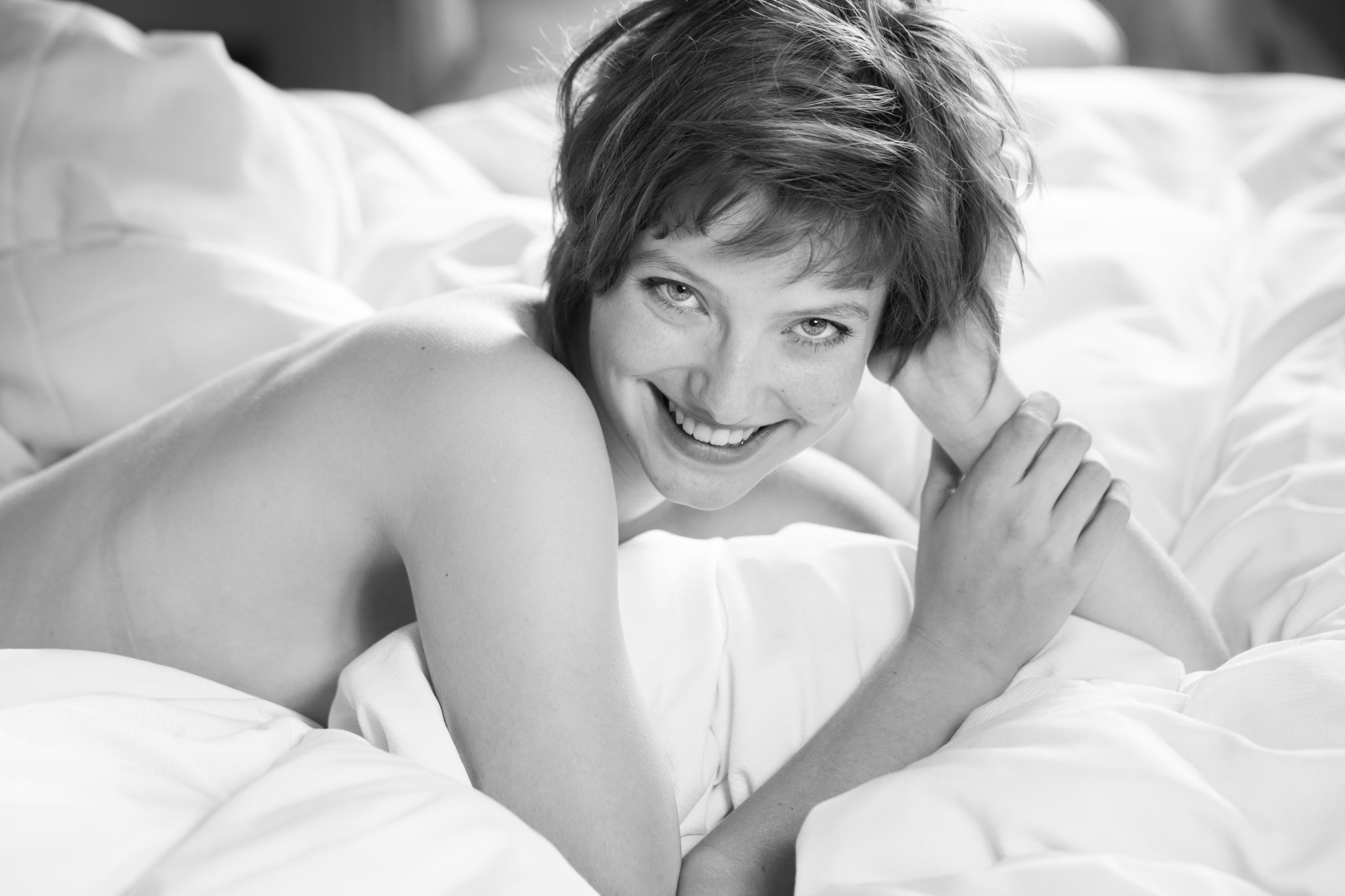 Claire Rammelkamp naked on my bed in Hotel 38 Clifton Bristol.