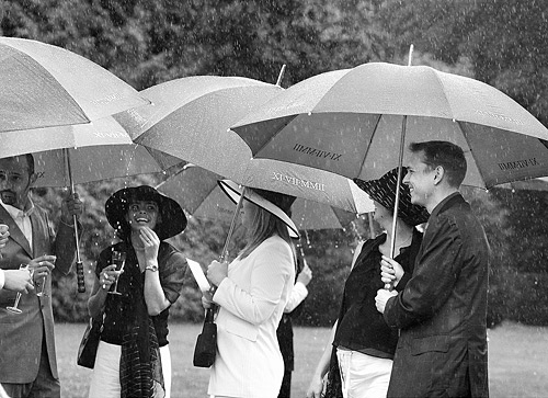 Rain happens in the UK. With a positive mental attitude even a wet wedding can be great fun. Don't panic if you wake up to rain. Just be prepared to get wet. ISO 800 f/4 at 1/470th