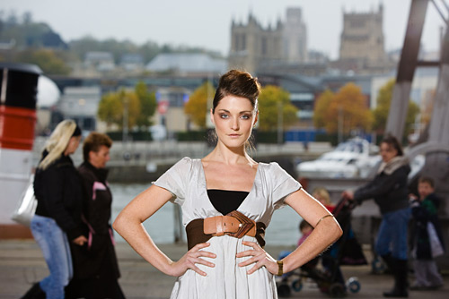 Out on the street with the Broncolor kit is one of my favourite places to make fashion style pictures