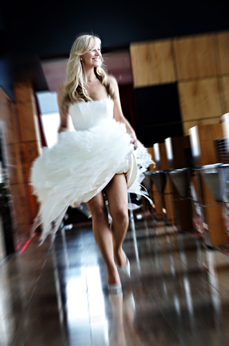 A swish and a near flash gives this catwalk shot its energy.