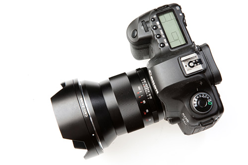 The Zeiss Distagon 21mm f/2.8 ZE on my Canon 5D mk2