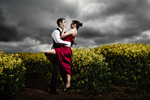 One the rapeseed was in flower I was set on the idea of creating the 'Strictly Lovegrove' genre.