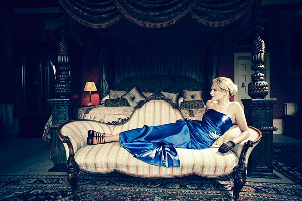 11. The Chaise Longue in the Kings room was perfectly lit by the window behind the camera. A Lupo 800 provided a kick light from the right.