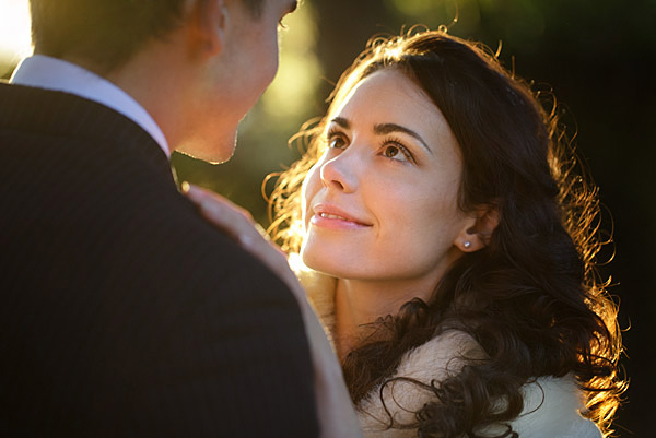 38. The light on our brides face is coming from the grooms face and the rim light makes the shot. An identical lighting set up can easily be achieved with an Arri or a Lowel light.