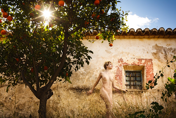 DL 25. I used careful placement of the sun to bring this shot of Katy to life. (We won't be shooting nudes on the workshops in October