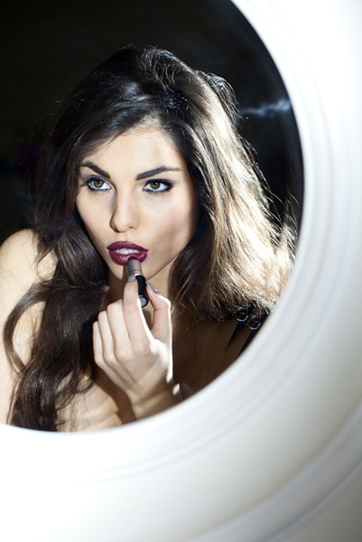 21. It was time for some evening wear shots and out came the red lipstick.