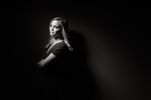 4. Another one light shot taken using a single gridded beauty dish.