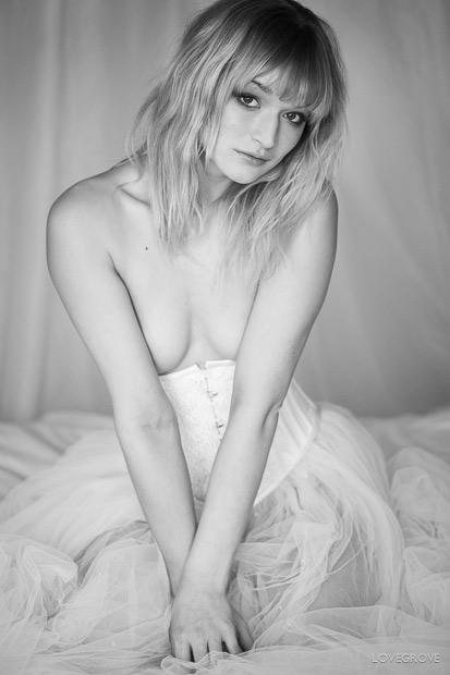 14. Lisa Keating had kindly lent us a corset and skirt for the shoot so we used it for a few frames on the bed.