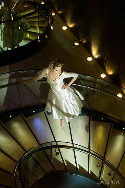 27. The Manchester Hilton has a fabulous staircase that comes alive after dark.