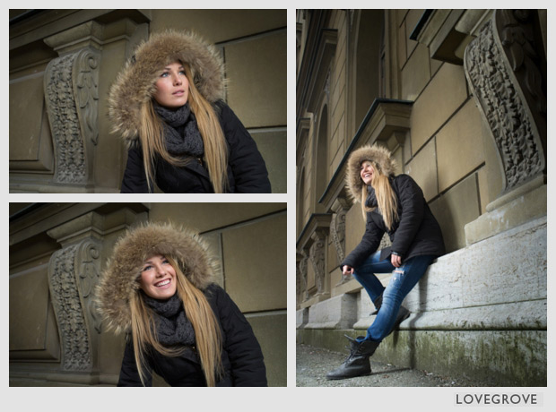 02. The Speedlight set up lifted Julia and gave her a radient glow on what was a very cold dull day at this time.