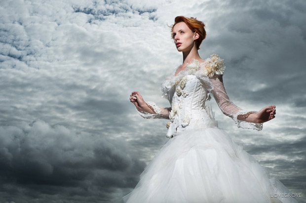 This picture of a corset by Lisa Keating was lit with an open faced Elinchrom Quadra head at about 3m from Victoria.