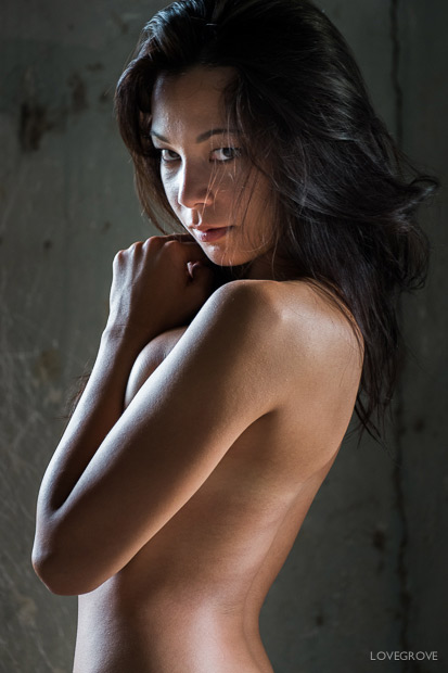 10. I used the classic Lovegrove 2 point lighting set up for this nude portrait.