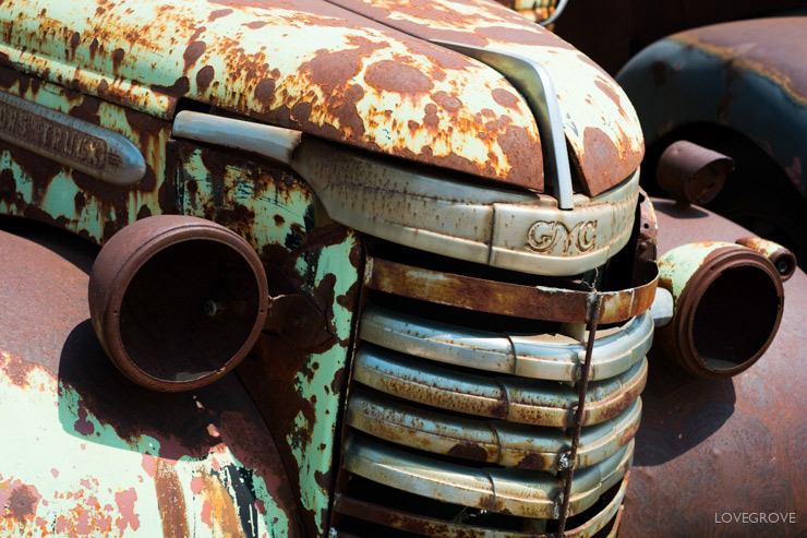 07. The air is so dry in Arizona. The pain on the cars disintegrates leaving the steel rusty but largely intact.