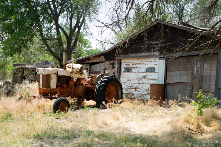 08. There is a lot of historic agricultural tools and equipment scattered across small town America.