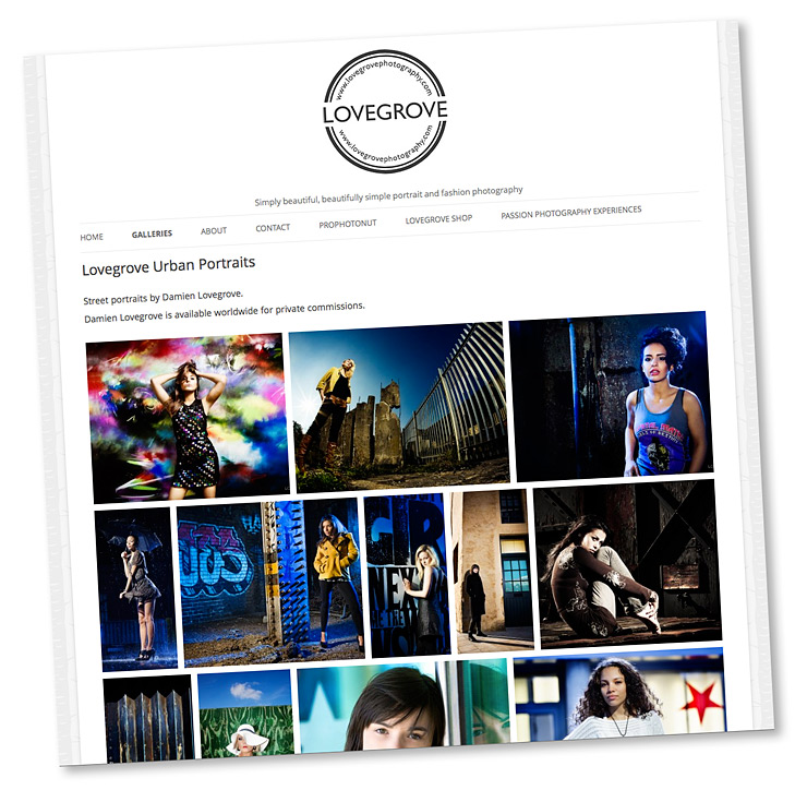 Lovegrove Urban Portraits gallery now live ~ 120 pictures