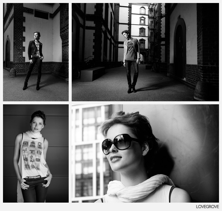 03. In the least likely of places we find a perfect place to shoot. Top Speedlight with umbrella, bottom natural light.