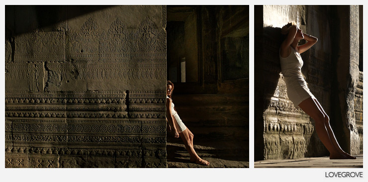04. The ancient carvings come alive in the glancing sunlight. I'm quite moved by the spectacle. It's just Cassandra, Francesca, my daughter and I left to appreciate 1000 years of history.