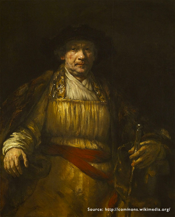 01. A small window about 30cm square provided the light for Rembrandt's classic self portraits.