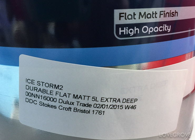 2. The paint from Dulux Trade Centres has a much more opaque base and needs less coats/ covers a larger area than the stuff you get mixed at DIY centres. There are more base styles to choose from too like Super Matt and Flat Matt.