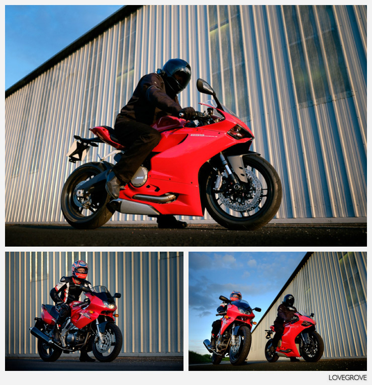 08. Len on the Ducatti and Jez on the Yamaha rode towards me at various speeds so I could learn how to shoot action with the Fuji X-T1 V4.