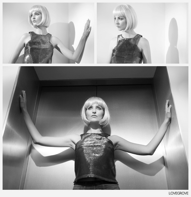 04. I showed various techniques to shoot fashionable portraits with just one continuous light.