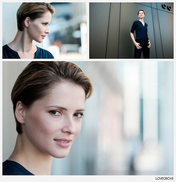 02. These three frames of Rosalinde were shot in the same spot. Top shot - 16mm at f/1.4. Bottom shots - 90mm f/2 at f/2. 1/400th second, ISO 200.