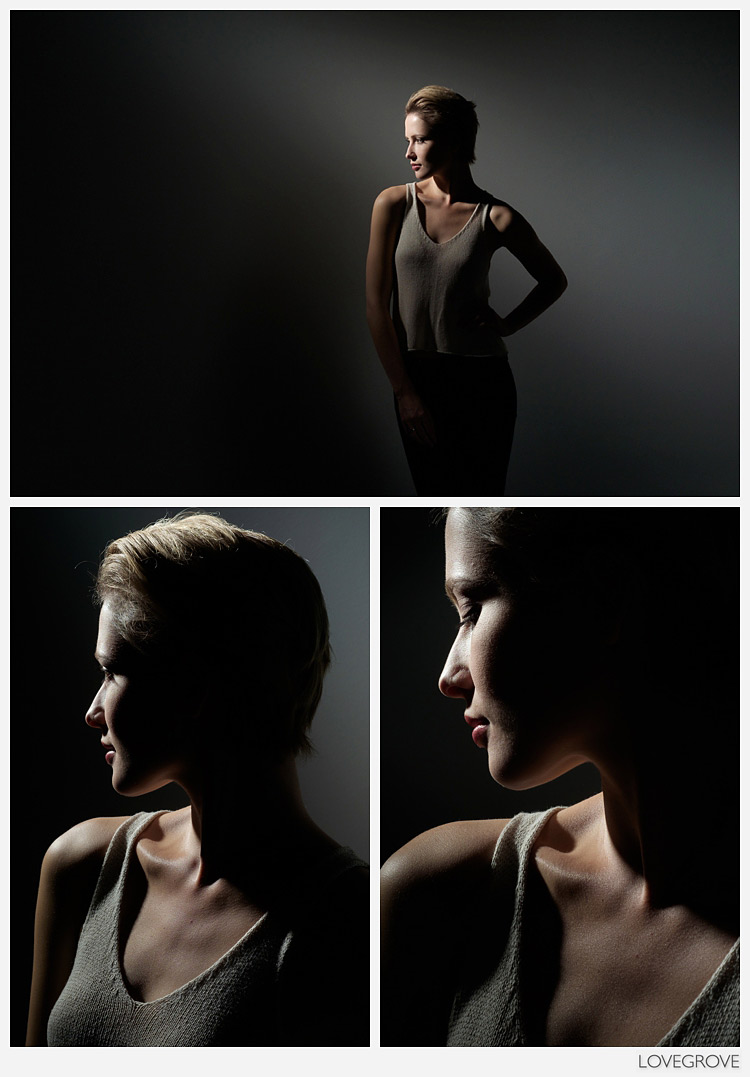 03. Working with curves and design I kept shooting with the single spot of light.