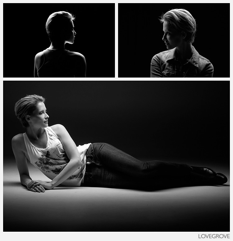 05. Next up was a one light set up using a striplight soft box and grid.