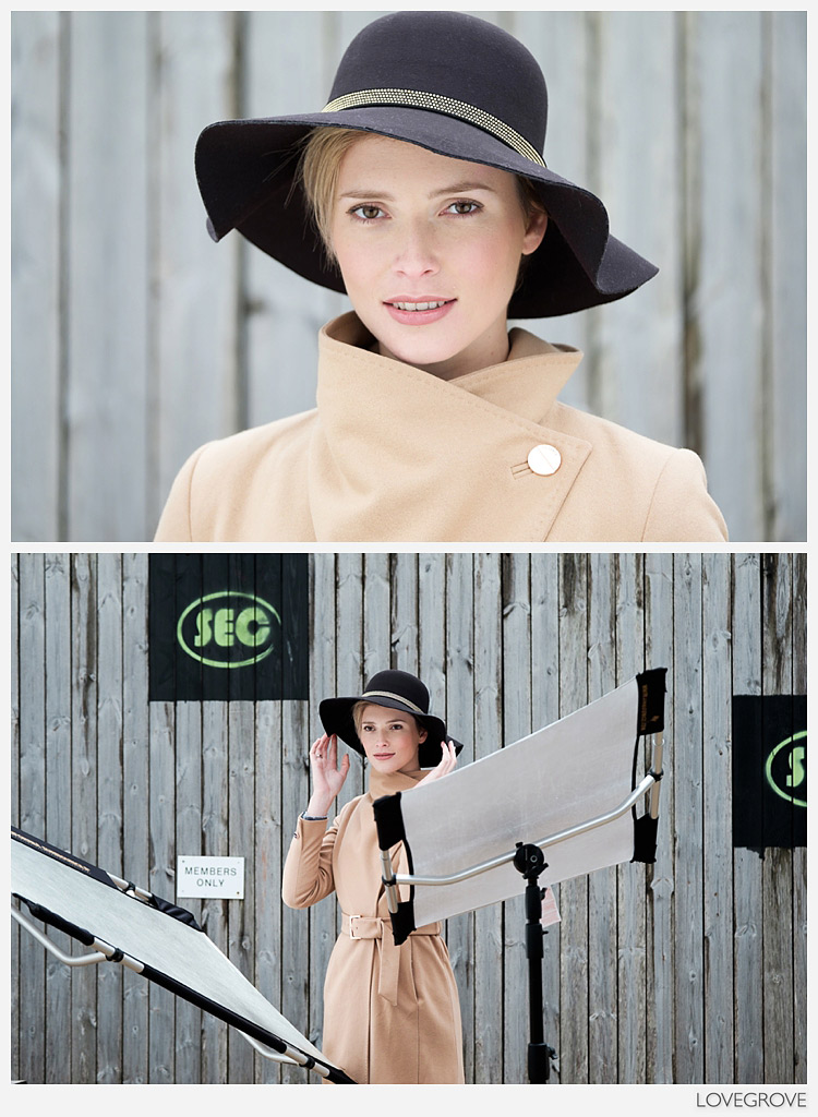 04. Tom Museeuw showed us all how he feathers light using reflectors for various beauty shots including this tight head shot of Rosalinde wearing a wide brimmed hat. Without the reflectors Rosalinde's face was in deep shade.