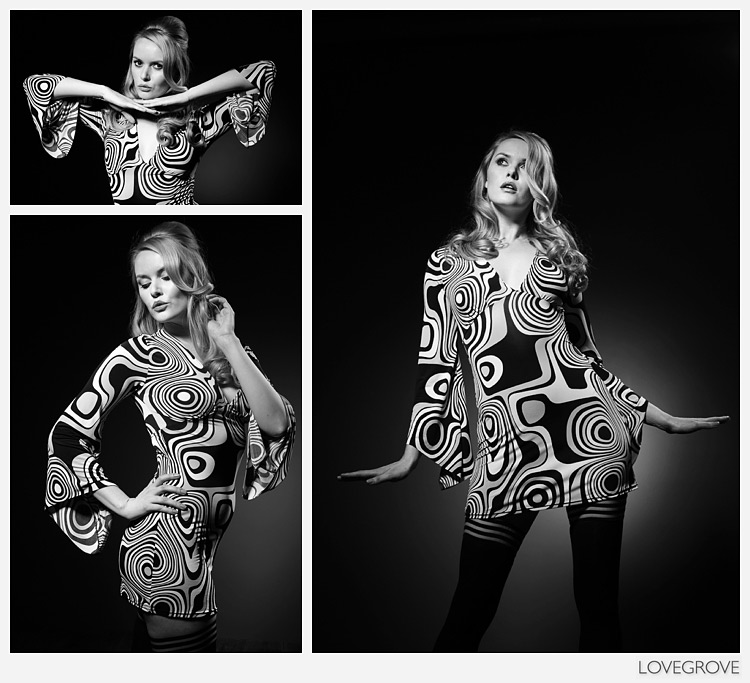 Late 1960s early 1970s look with Carla Monaco.