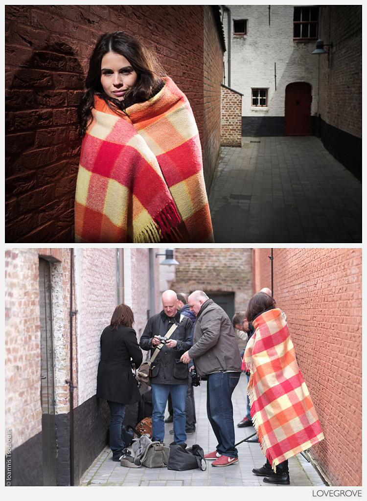 14. A little alleyway was the scene for this simple shot of Larissa. I lit her with the two Cactus RF60 Speedlights.
