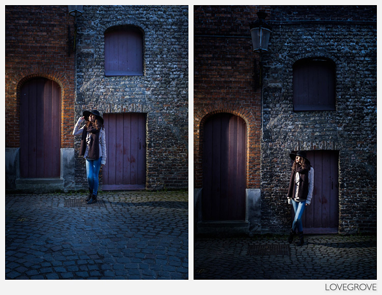 19. Larissa in Hat Shoppe Alley lit with a pair of Speedlights and a CTO gel.
