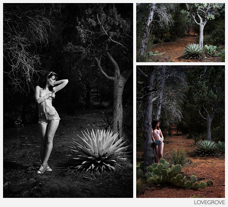 11. The light in Arizona was very changeable, like the weather. I used a Quadra ELB to light Arielle in the high wilderness near Sedona.