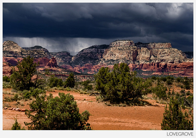 12. One minute we had hot sun and the next a hail storm. This gave us dramatic skies from time to time.