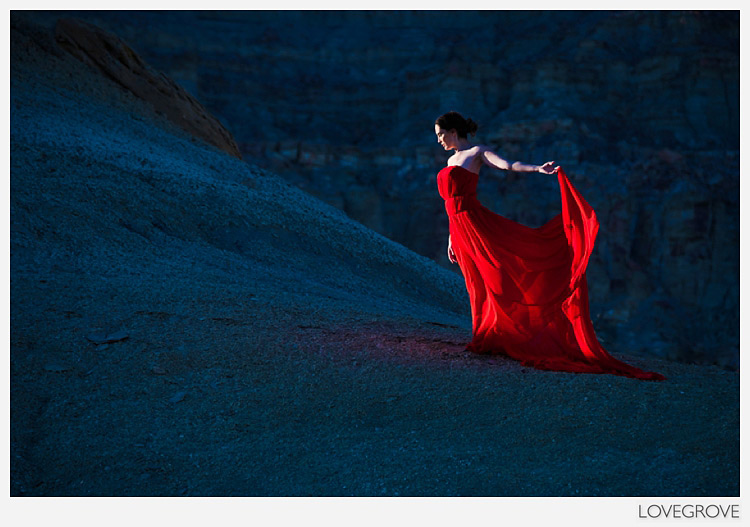 19. The setting sun in a wilderness area by Lake Powell gave us a unique opportunity for some dress shots.