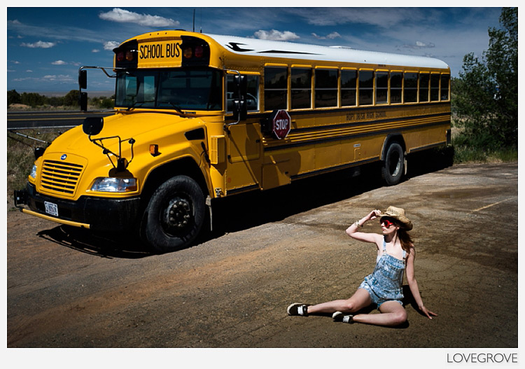 74. Arielle and I love American school busses so when this photo opportunity arose we jumped at the chance to shoot it.