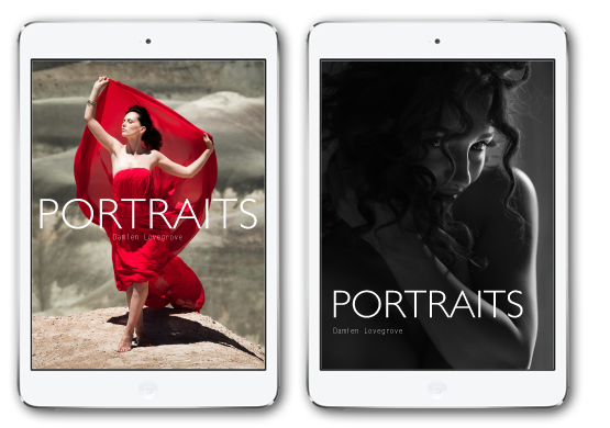 Portraits by Damien Lovegrove. The all new eBook