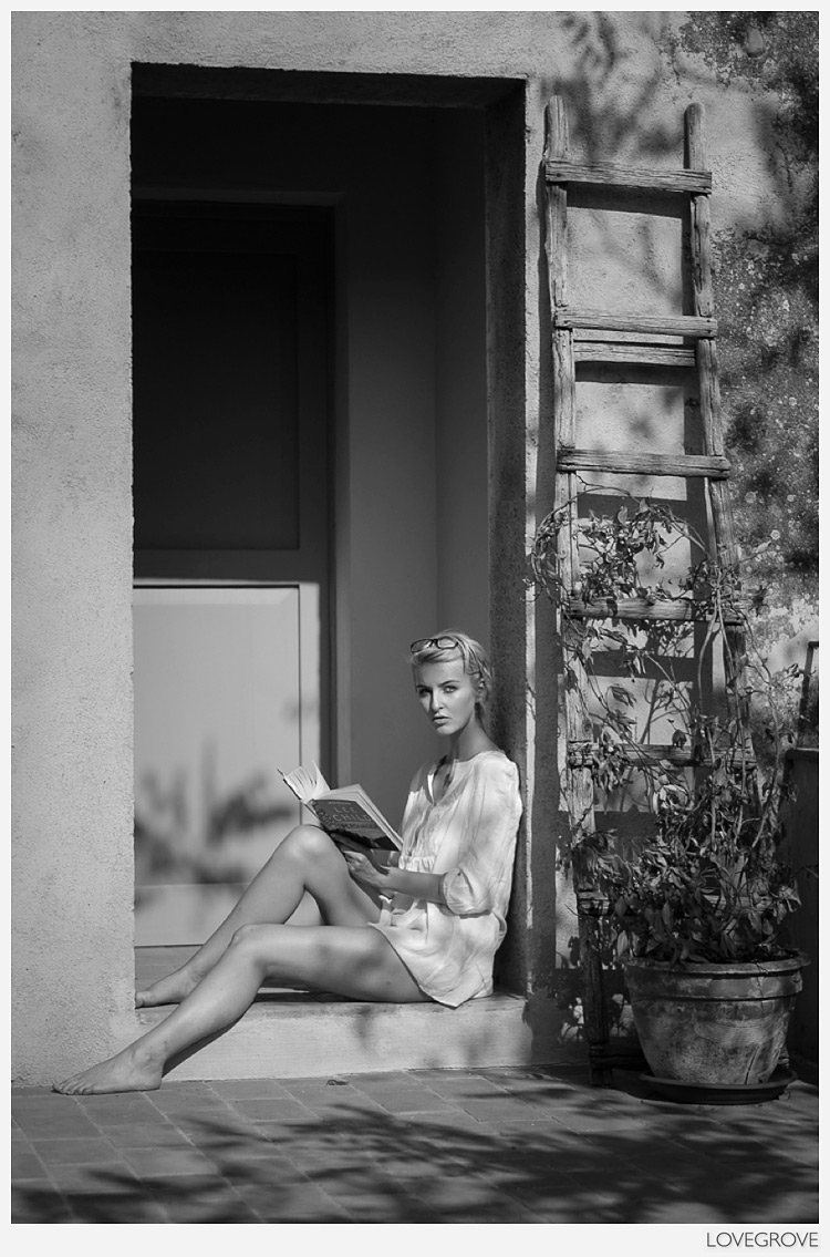 Amber Tutton in Tuscany by Damien Lovegrove