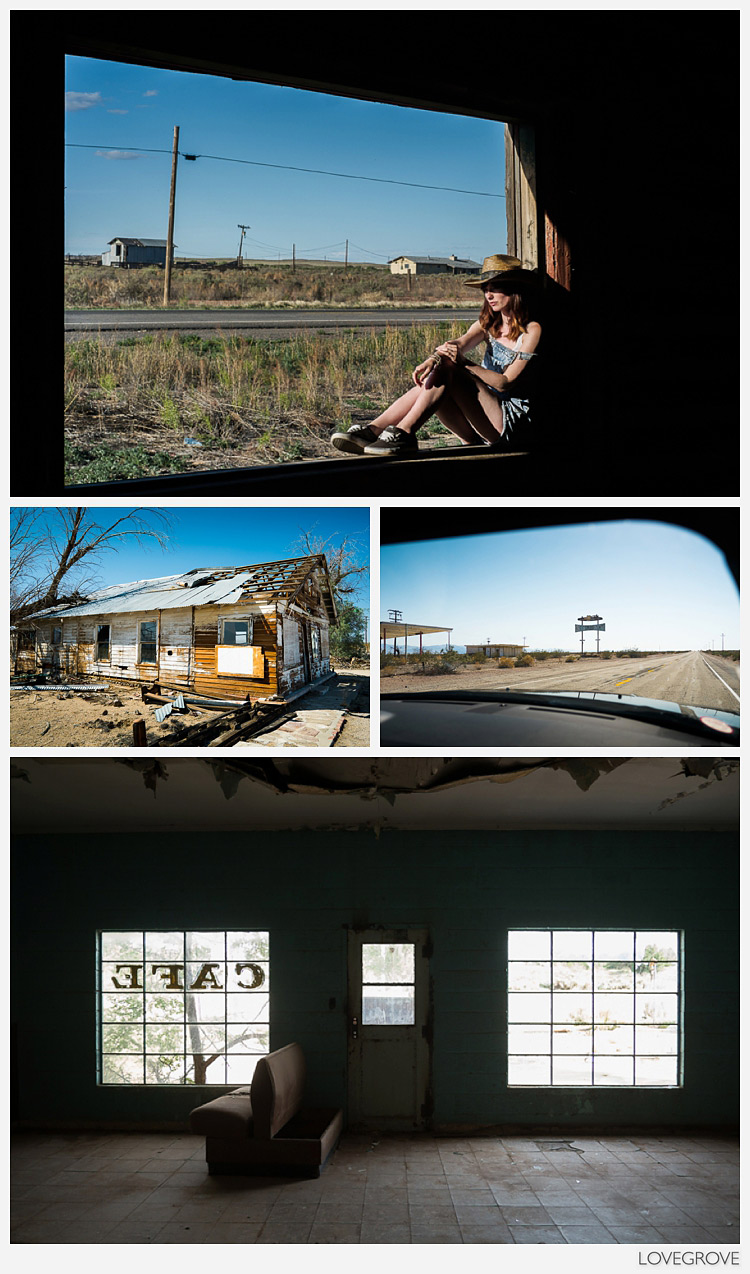 Shacks and abandoned frontiers on route 66