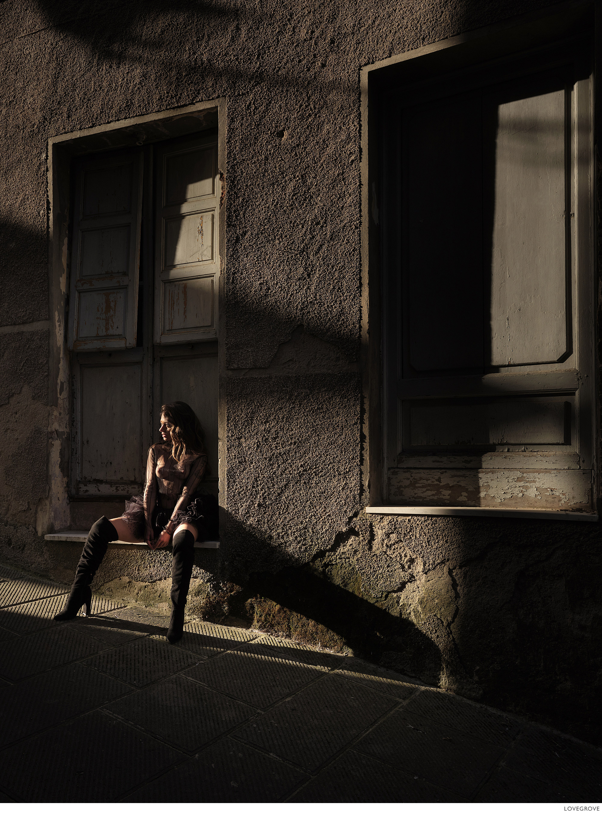 Erika in evening light in Tuscany