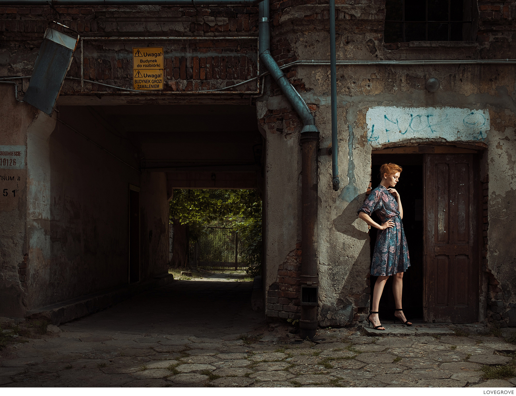 Kate in an old part of Lodz