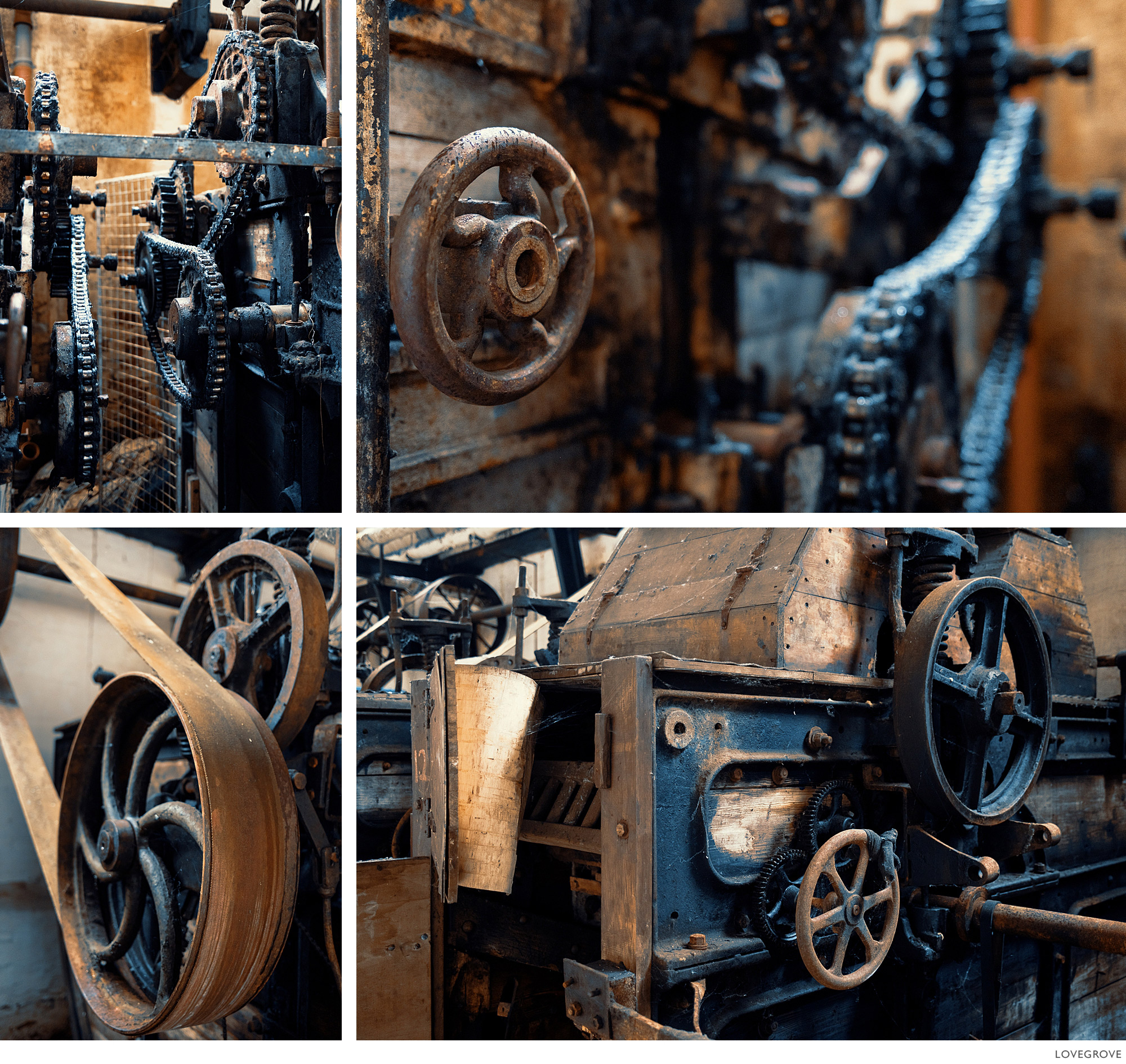 wheels, belts and pullies in the Tonedale Mill